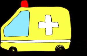 フリー素材 救急車 イエロー
