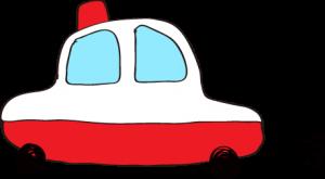 フリー素材 パトカー 赤