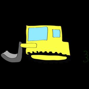 ブルドーザー:黄色