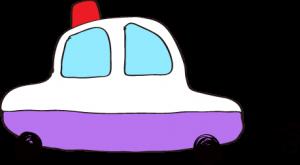 フリー素材 パトカー 紫