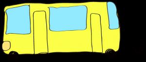 黄色:【乗り物フリー素材】 バス