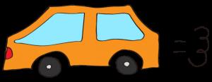 オレンジ:【素材・ 自家用車】普通車