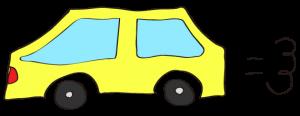 黄色:【素材・ 自家用車】普通車