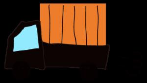 黒 【フリー素材・乗り物】 軽トラック(荷台カバー)