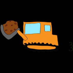 ブルドーザー(土):オレンジ