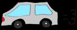 グレイ:【素材・ 自家用車】普通車