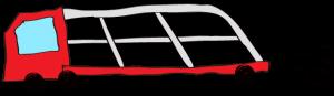 赤:【フリー素材・ 大型車】カーキャリー