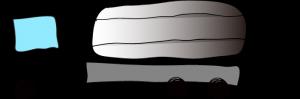 黒:タンクローリー【 フリー素材・働く車 】