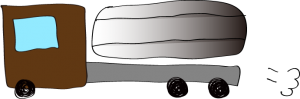 茶色:タンクローリー【 フリー素材・働く車 】