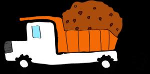 ダンプカー土積:白 【 フリー素材工事車両 】