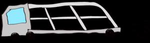 グレー:【フリー素材・ 大型車】カーキャリー