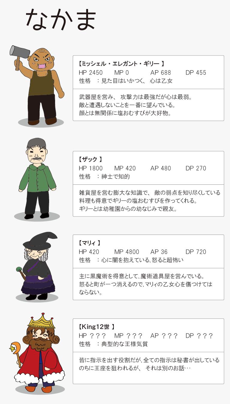 キャラクター紹介【仲間】
