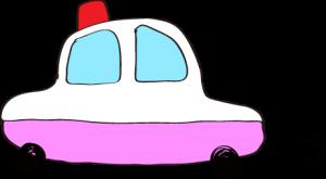 フリー素材 パトカー ピンク