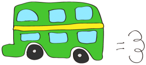 緑:【乗り物フリー素材】 二階建てバス