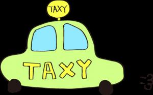 タクシー:黄緑