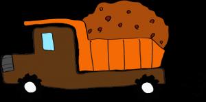ダンプカー土積:茶色 【 フリー素材工事車両 】