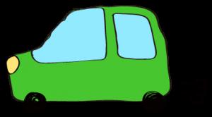 緑:【フリー素材・ 自動車】ワゴン