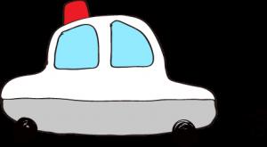フリー素材 パトカー グレー