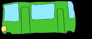 緑:【乗り物フリー素材】 バス