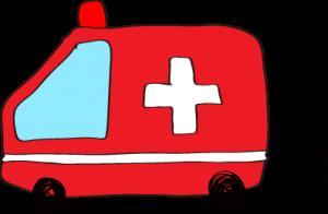 フリー素材 救急車 赤