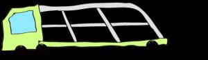 黄緑:【フリー素材・ 大型車】カーキャリー