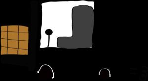 黒:フォークリフト【フリー素材・働く車】