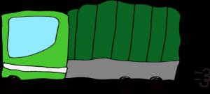トラック:緑 【 フリー素材  】