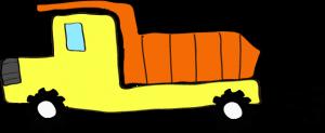 ダンプカー:黄色 【 フリー素材工事車両 】