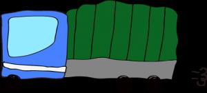 トラック:青 【 フリー素材  】