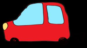 赤:【フリー素材・ 自動車】ワゴン