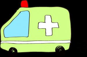 フリー素材 救急車 黄緑