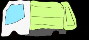 収集車 黄緑