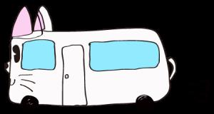 白:【乗り物フリー素材】 猫バス