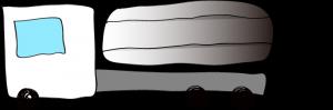 白:タンクローリー【 フリー素材・働く車 】