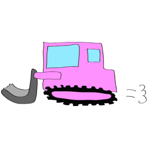 ブルドーザー:ピンク