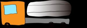 オレンジ:タンクローリー【 フリー素材・働く車 】