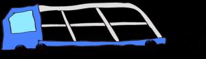 青:【フリー素材・ 大型車】カーキャリー