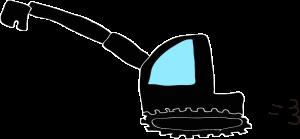 ショベルカーロング:黒 【 フリー工事車両 】