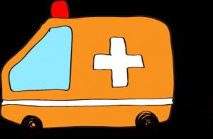フリー素材 救急車 オレンジ
