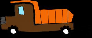 ダンプカー:茶色 【 フリー素材工事車両 】