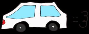 白:【素材・ 自家用車】普通車