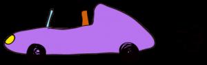 紫:【素材・ 自動車】オープンカー