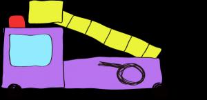 フリー素材 はしご車 紫