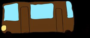 茶色:【乗り物フリー素材】 バス