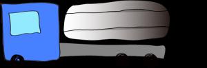 青:タンクローリー【 フリー素材・働く車 】
