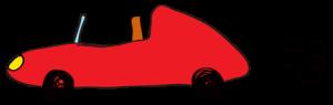 赤:【素材・ 自動車】オープンカー
