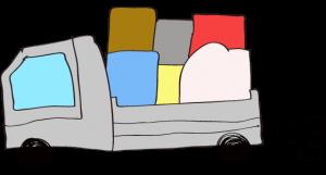 グレイ 【フリー素材・乗り物】 トラック(積荷)