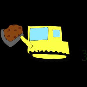 ブルドーザー(土):黄色