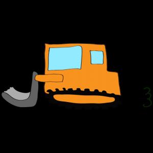 ブルドーザー:オレンジ