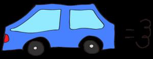 青:【素材・ 自家用車】普通車
